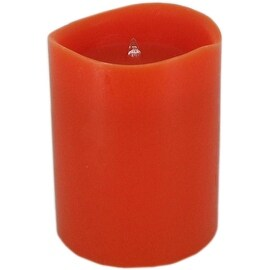 LED Candle Light Orange 3 in x 4 in