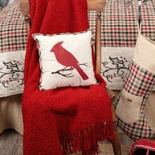 Hollis Cardinal Pillow 12x12
