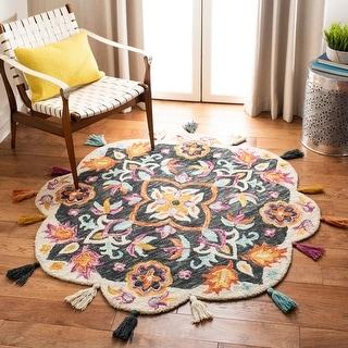 Safavieh Handmade Novelty Kitt Bohemian Floral Wool Rug