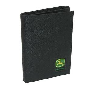 John Deere Men's Leather Pebblegrain Trifold Wallet - one size