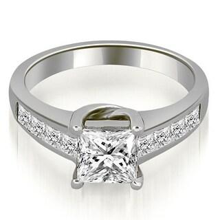 1.00 ct.tw 14K White Gold Channel Princess Cut Diamond Engagement Bridal Ring