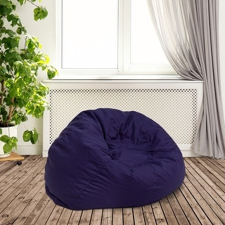 Small Solid Refillable Bean Bag Chair for Kids and Teens