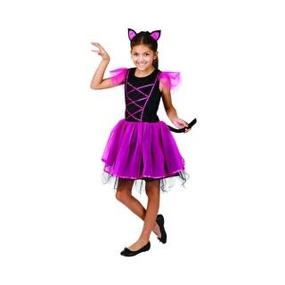 Cat Ballerina Girl's Children's 3-Piece Halloween Costume - Small