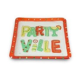 Lori Siebert Glass Fusion Partyville Glass Plate