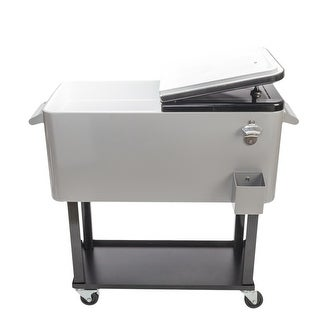 80QT Iron Spray Cooler with Shelf