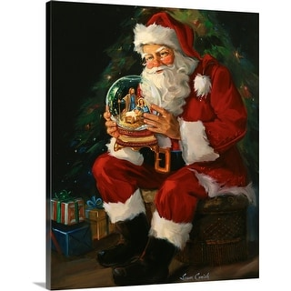 """Santa Believes"" Canvas Wall Art"