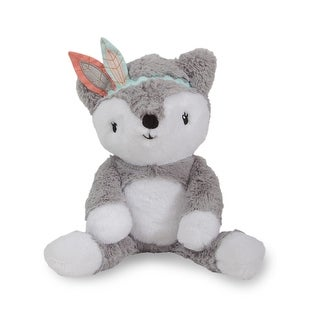 Lambs & Ivy Little Spirit Gray/White Plush Fox Stuffed Animal - Cheyenne