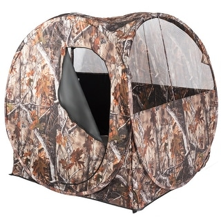 Costway Portable Hunting Blind Waterproof Pop Up Hunting Ground Blind