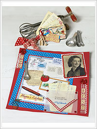 Mama's Kitchen Cooking-Themed Scrapbook Kit
