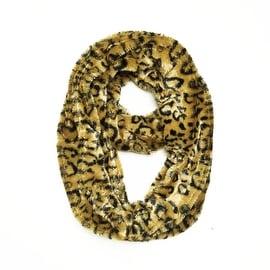Super Soft Faux Fur Animal Print Warm Infinity Loop Circle Scarf