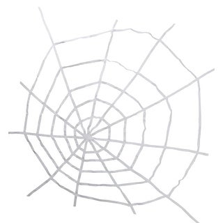 """80"""" White Spooky Spider Web Halloween Hanging Decoration"""
