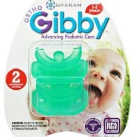 Branam Ortho-Gibby Pacifier Toddlers, Green 2 ea