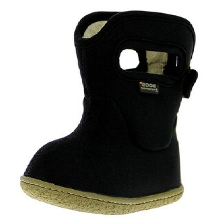 """Bogs Outdoor Boots Kids 6"""" Baby Solid Insulated WP Rubber - Black"""