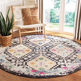 Safavieh Madison Medine Boho Diamond Distressed Rug