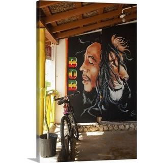 """Bob Marley mural at Blazer on the Bay bar and restaurant"" Canvas Wall Art"