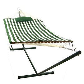 Sunnydaze Rope Hammock Combo with Stand, Pad and Pillow, 52 Inch Wide x 144 Inch