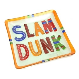 Silvestri Glass Fusion 11-Inch-by-11-Inch Slam Dunk Plate