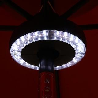Sunnydaze Outdoor Patio Umbrella/Yard Lights 2-Panel Battery Operated - 24 LEDs