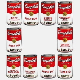 Campbells Soup Can Series I by Andy Warhol Pop Art Prints