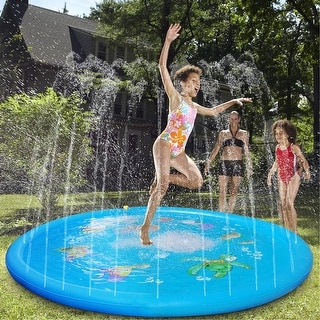 "Pre-sale Sprinkle & Splash Play Mat 68"" Sprinkler for Kids Outdoor Water Toys Fun for Children - 68''"