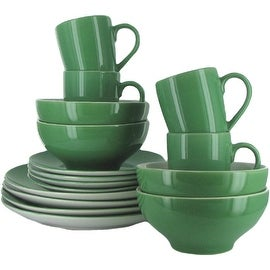 Gibson 16-Piece Dinnerware Set, For 4 in Green