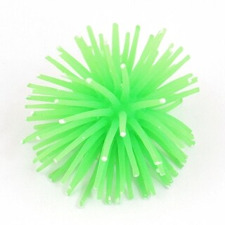 "Home Aquarium Ornament 3"" Diameter Green Soft Silicone Coral Ball"