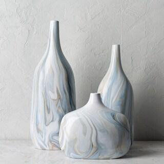 Didan Modern Ceramic Outdoor Safe Vase Set (3 Pieces)