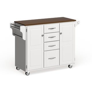 Copper Grove Pinehurst Island White Finish Cart