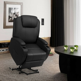 Costway Electric Lift Power Recliner Chair Heated Massage Sofa Lounge