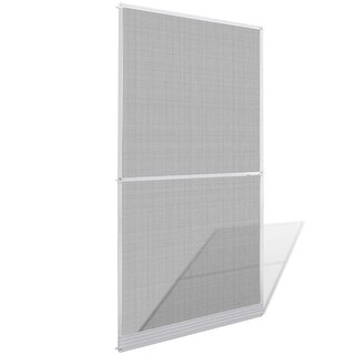 "vidaXL White Hinged Insect Screen for Doors 47.2""x94.5"""