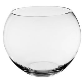 "CYS® Glass Bubble Bowl, Fish Bowl Hand Blown Glass Vase, Body D-6"" (1PC)"