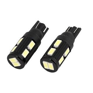 Unique Bargains Pair Car Automobile T10 W5W White 10 5630 SMD LED Bulb Light Lamp DC 12V