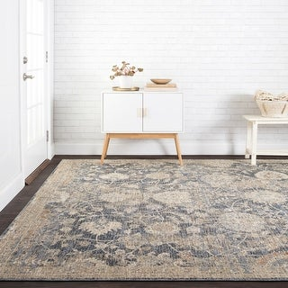 """Alexander Home Distressed French Country Mosaic Area Rug - 6'7"""" x 9'4"""""""