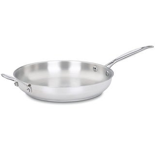 Cuisinart 722-30H Chef's Classic Stainless 12-Inch Open Skillet with Helper Handle