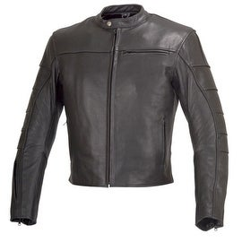 Men Motorcycle Biker Armor Leather Jacket by Xtreemgear Black MBJ022