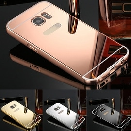 Shockproof Aluminum Metal Mirror Case Bumper Snap-On Cover For Samsung Galaxy S7 Edge