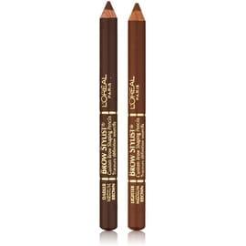 L'Oreal Brow Stylist Brow Shaping Duet Pencils, Medium Brown [335], 0.56 oz