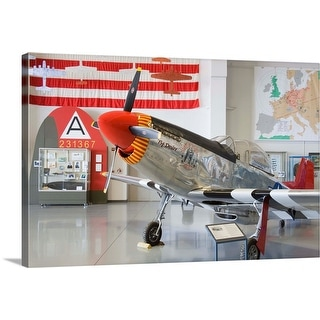 """""""Fighter plane at the Commemorative Air Force"""" Canvas Wall Art"""