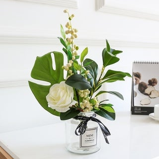 FloralGoods Greenery and Rose Flower in Vase