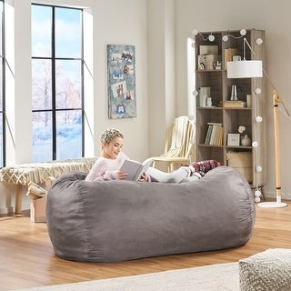 Barracuda Traditional 6.5 Foot Suede Bean Bag (Cover Only) by Christopher Knight Home