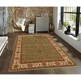 2.4x4 4x6 5x7 Green Sage Beige Brown Red Orange Traditional Persian Floral Faux Silk Rug Carpet