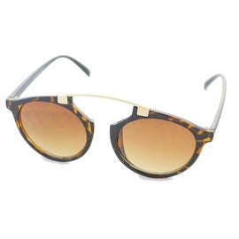 Women Ladies Sunglasses Wayfarer Clubmaster Bridgeless Cat Eye, Tortiose Brown