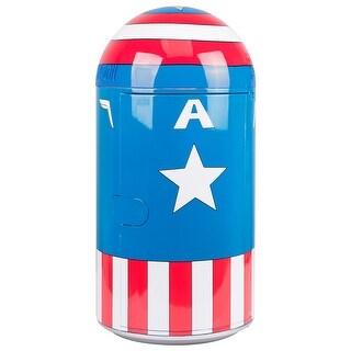 Marvel Comics Captain America - Vintage Uniform Pattern 14L Liter Thermoelectric Cooler Mini Fridge