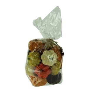 Bag of Natural Assorted Color Dried Angel Vine Decorative Pumpkins - 2.25 X 3 X 3 inches