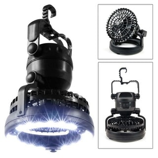 Image 2in1 LED Camping Light + Ceiling Fan Outdoor Hiking Flashlight - SIZE