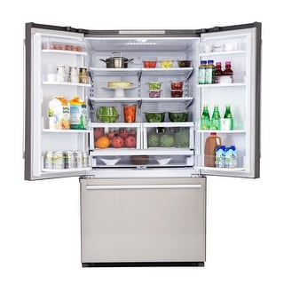 KUCHT Pro-Style 26.1 cu. ft. 36 in. French Door Refrigerator in Stainless Steel with Interior Ice Maker, Standard Depth
