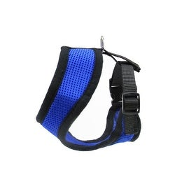 Small Blue and Black Breathable Nylon Adjustable Dog Harness