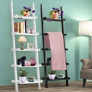 5 Layers Display Shelves Bookcase Shelving Unit Storage Stand