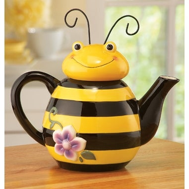 Bee Shaped Ceramic Kitchen Teapot 18675772 Overstock