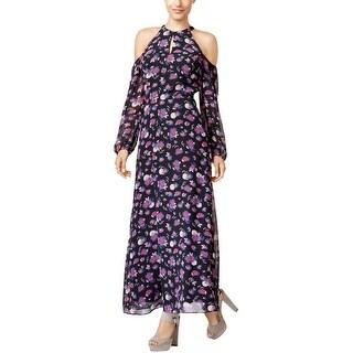 Bar Iii Womens Cold-Shoulder Maxi Dress
